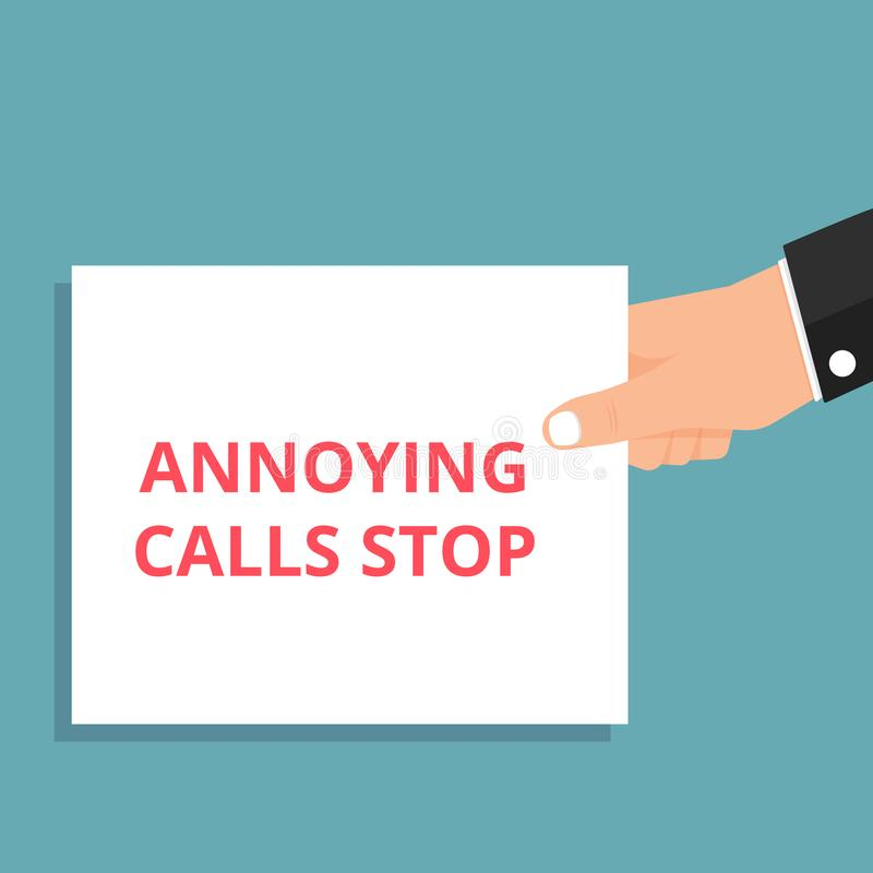 Text Annoying Calls Stop. Vector illustration vector illustration