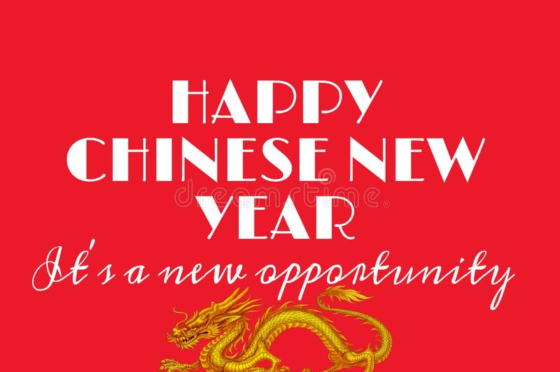 Text background of happy chinese new year 2020 royalty free stock photography