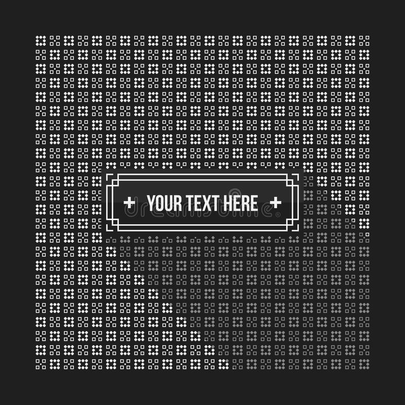 Text background with pixelated monochrome pattern. Useful for corporate presentations, advertising and web design. Neutral style royalty free illustration