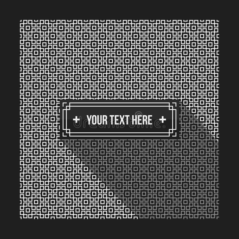 Text background with pixelated monochrome pattern. Useful for corporate presentations, advertising and web design. Neutral style vector illustration