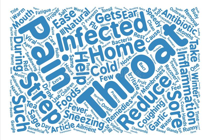 Text Background Word Cloud Concept. Home Remedies For Strep Throat Word Cloud Concept Text Background vector illustration
