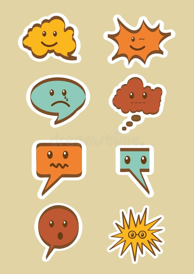 Download Text balloons stock illustration. Image of amazed, design - 25706682