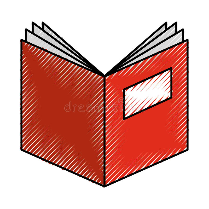 Text book open isolated icon vector illustration