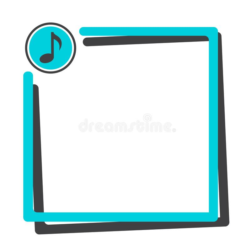 Text box with button of music icon. Vector illustration vector illustration