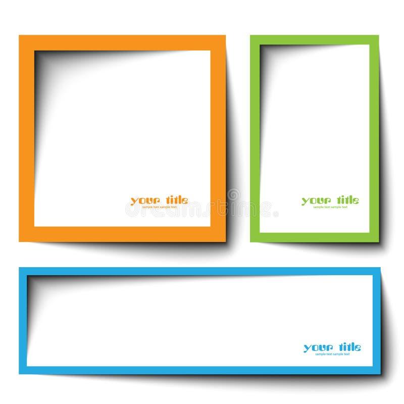 Text boxas design arkivfoto