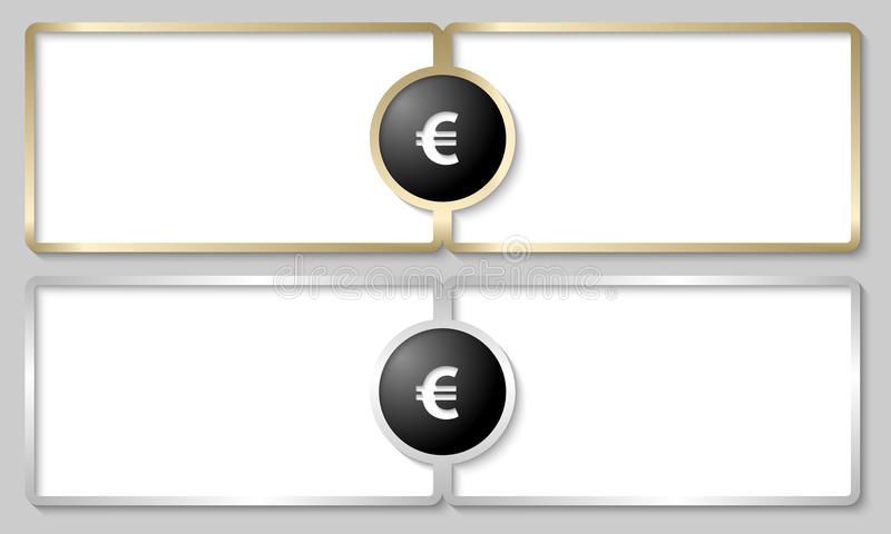 Download Text boxes with euro sign stock vector. Image of object - 35565238