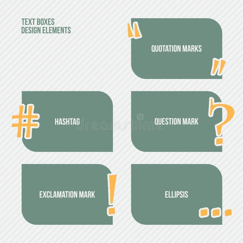 Text boxes stock illustration