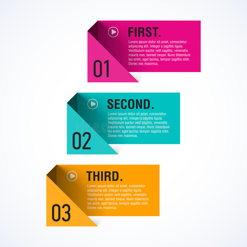 Text boxes template royalty free illustration