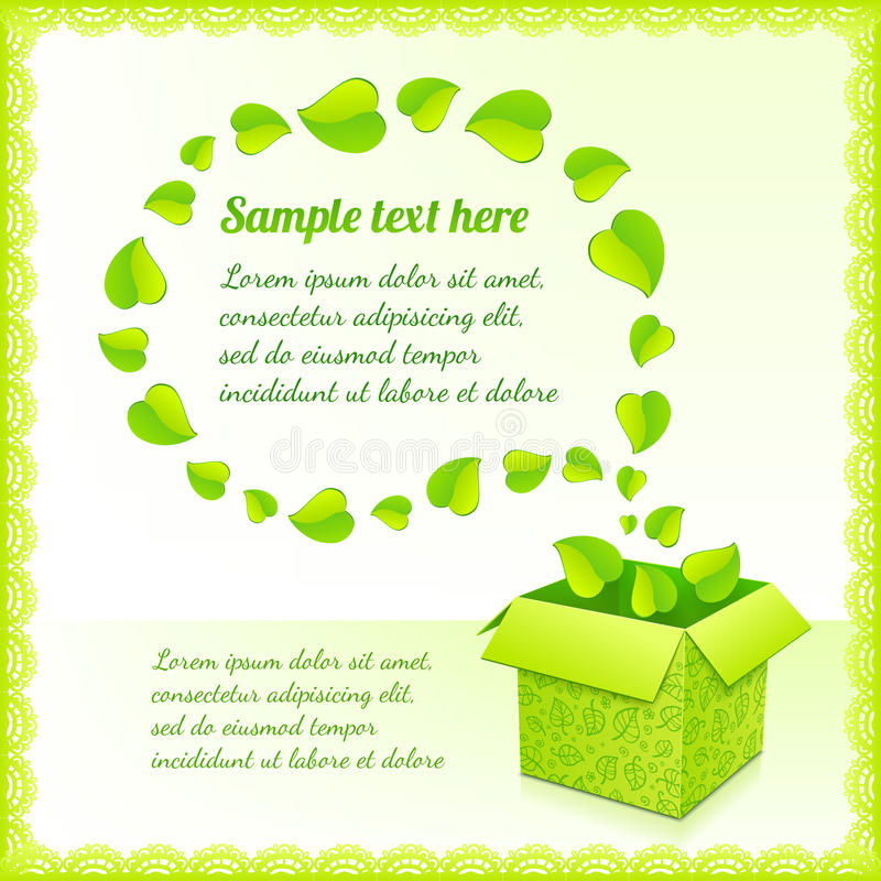 Download Text Bubble From Foliage With Green Box Of Leaves Stock Vector - Image: 28665034