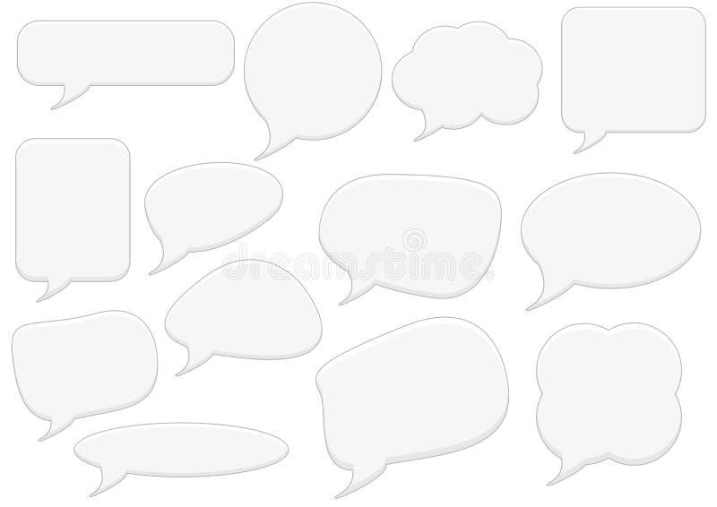 Text bubbles set stock illustration