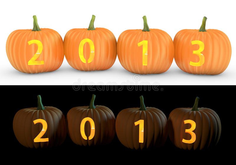 Download 2013 Text Carved On Pumpkin Jack Lantern Stock Illustration - Image: 31605527