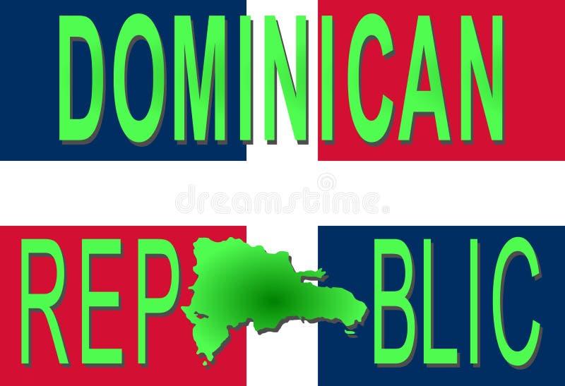 Text der Dominikanischen Republik vektor abbildung