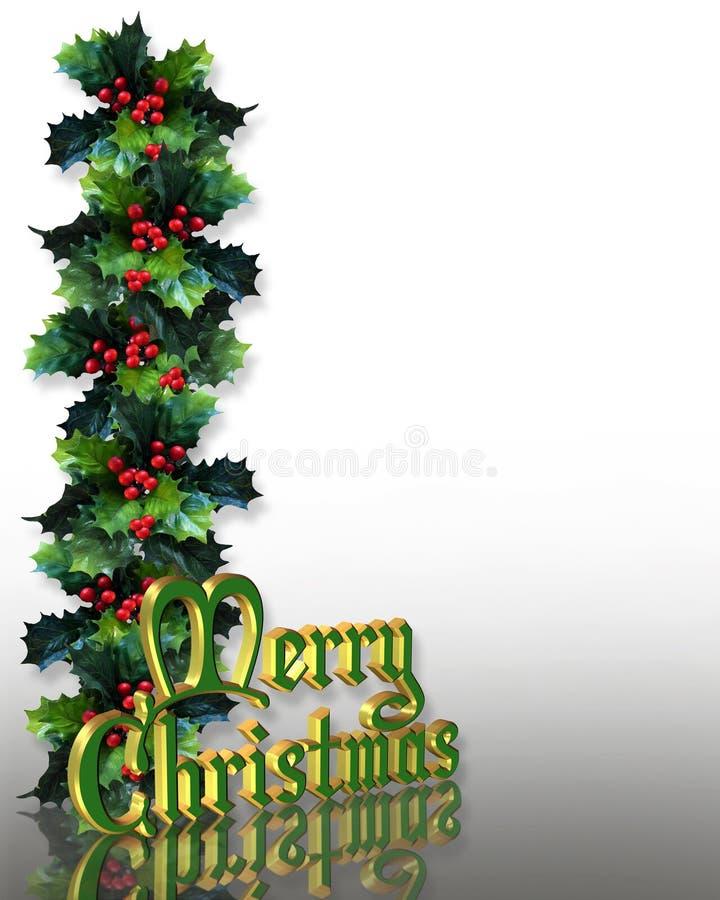 Text des Weihnachtsstechpalme-Randes 3D vektor abbildung