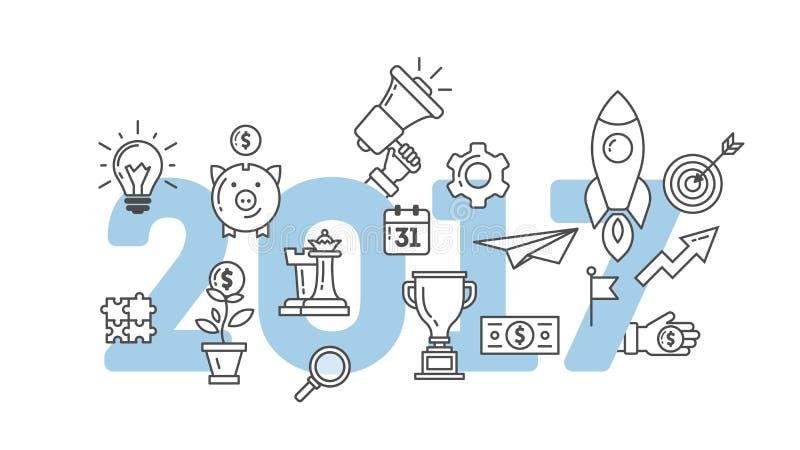 2017 text design royalty free illustration