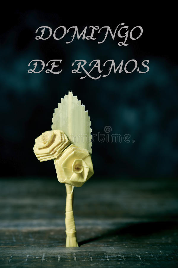 text domingo de ramos palm sunday in spanish stock image image of branch christ 89818789
