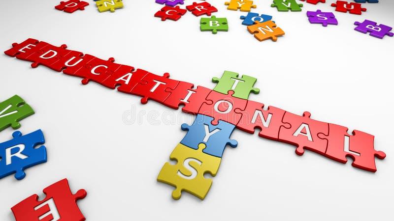 Text educational toys vector illustration
