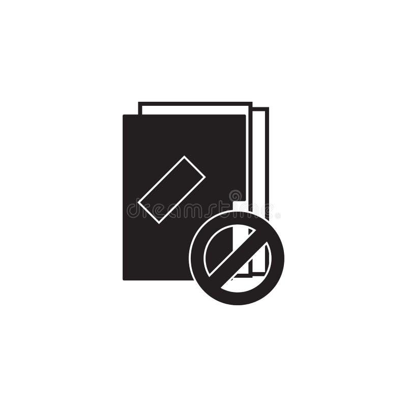 Text- eller mappborttagningssymbol royaltyfri illustrationer