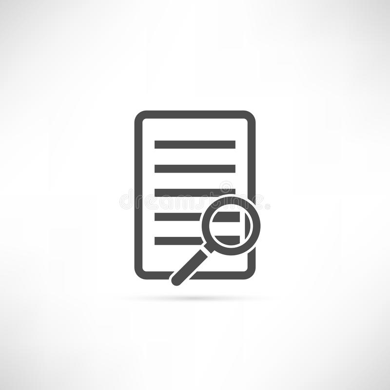 Text-Entdeckungs-Ikone lizenzfreie stockfotos
