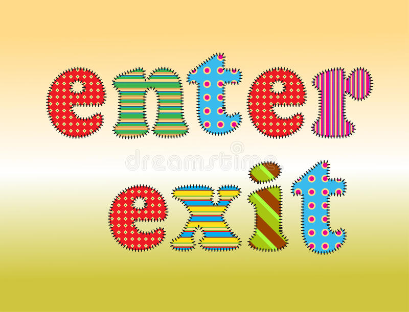 Download Text enter stock vector. Image of blue, positive, signs - 26617719