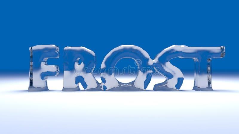 text för frost 3D royaltyfri illustrationer