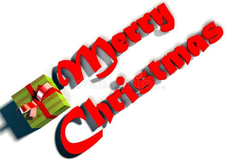 Text för glad jul royaltyfria bilder