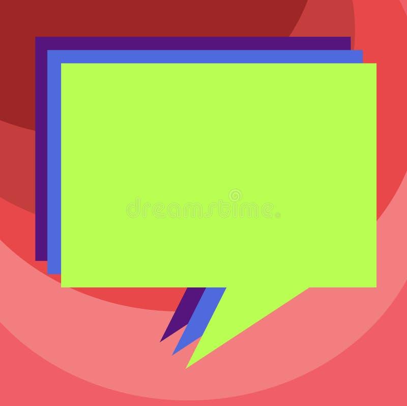 Text för kopia för designaffärsidé tom för befordrings- material för rengöringsdukbaner som är falskt upp mallbunt av anförandebu royaltyfri illustrationer