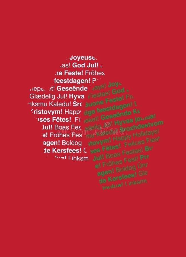text för lingvala mittens för ferie mång- stock illustrationer