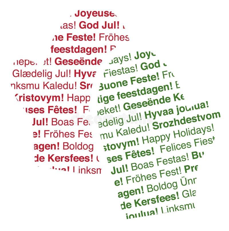 text för lingvala mittens för ferie mång- vektor illustrationer