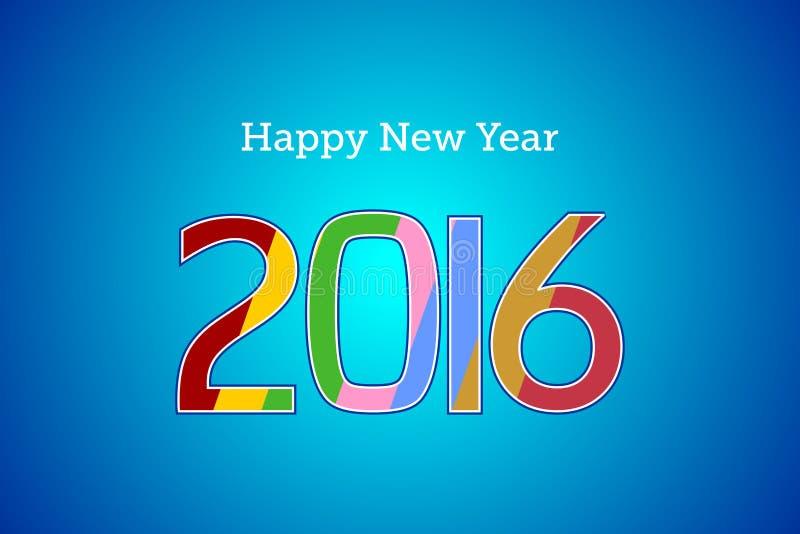 Text för lyckligt nytt år 2016 arkivfoto