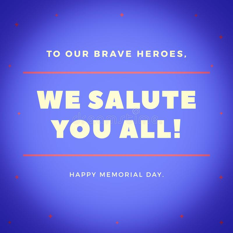 Text f?r Memorial Day royaltyfri illustrationer