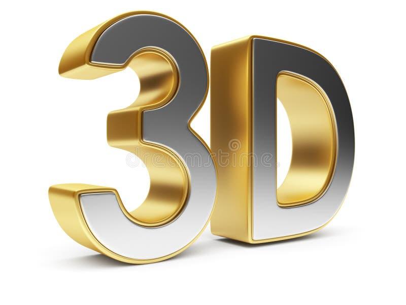 text för underhållning för bio 3d isolerad symbol