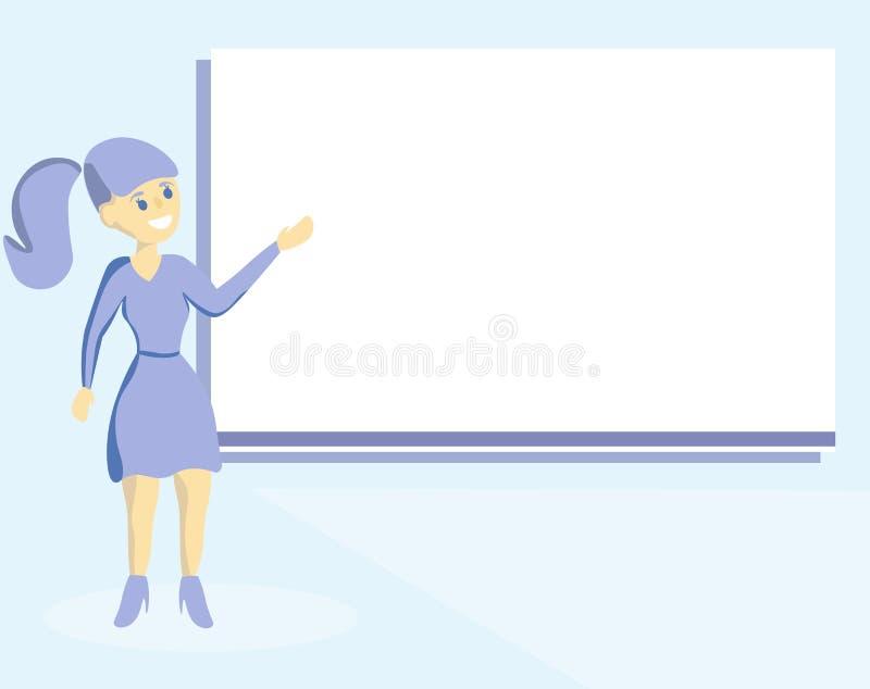 Text för utrymme för kopian för mallen för det plana för designaffärsvektorn begreppet för illustrationen isolerade tom för annon vektor illustrationer