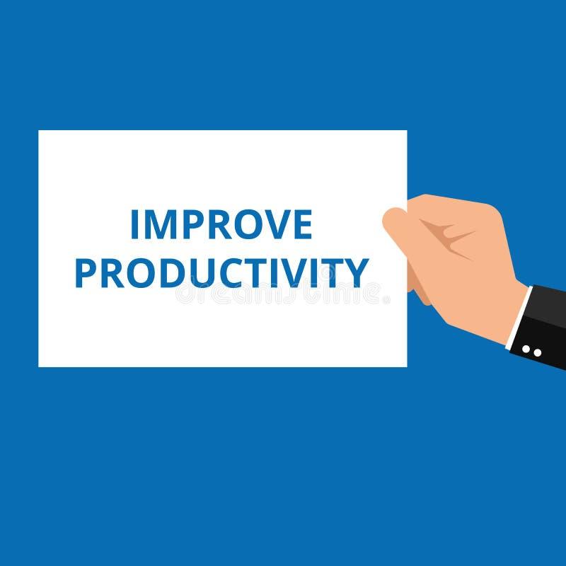text förbättrar produktivitet royaltyfri illustrationer