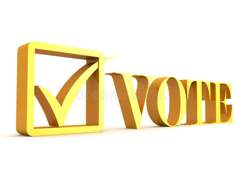 text för askkontrollfläcken röstar stock illustrationer