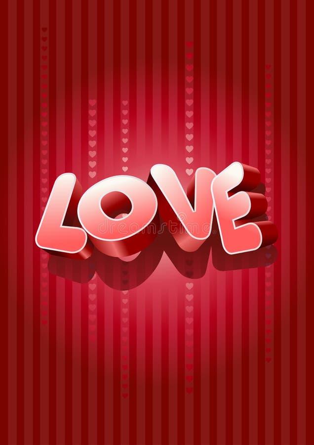 text för förälskelse 3d stock illustrationer