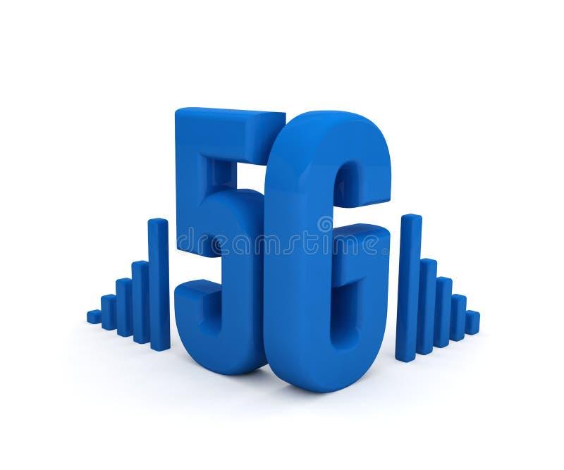 text f?r internet f?r teknologi f?r n?tverk 5G tr?dl?s royaltyfri illustrationer