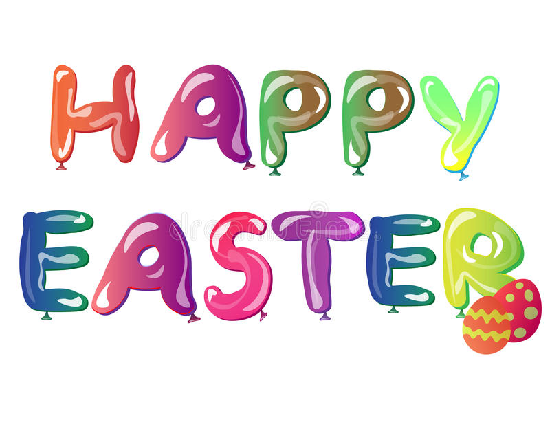 Text Featuring Easter Greetings vector illustration