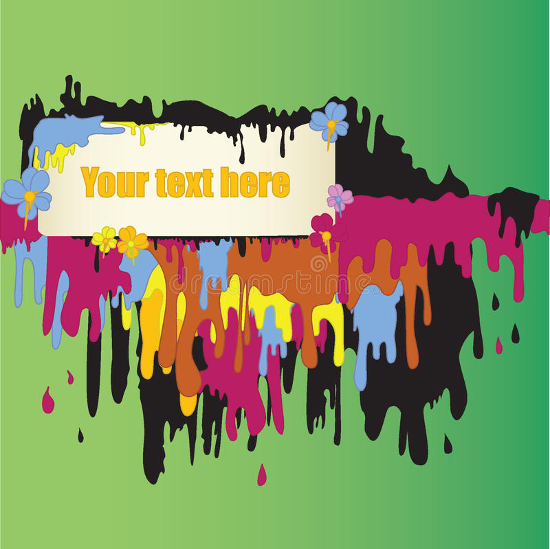 Text Frame Dripping With Paint Royalty Free Stock Photography