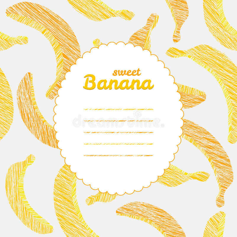 Text Frame. Endless Banana Texture, Repeating Fruit Background ...