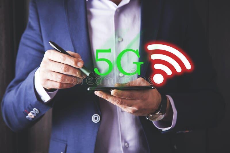 text 5G med wi fi royaltyfria bilder
