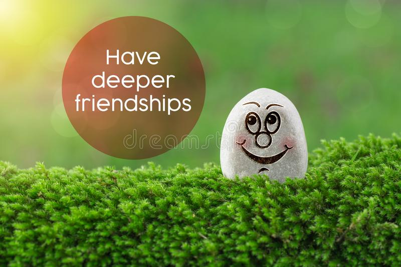 Have deeper friendships royalty free stock photo