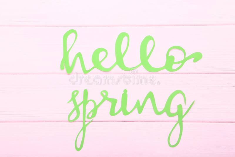 Text Hello Spring royalty free stock photos