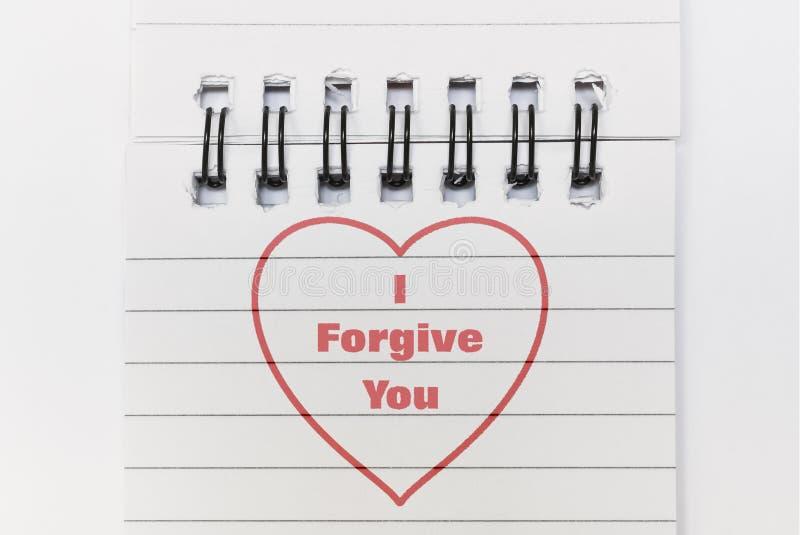 Text I Forgive You royalty free stock photos