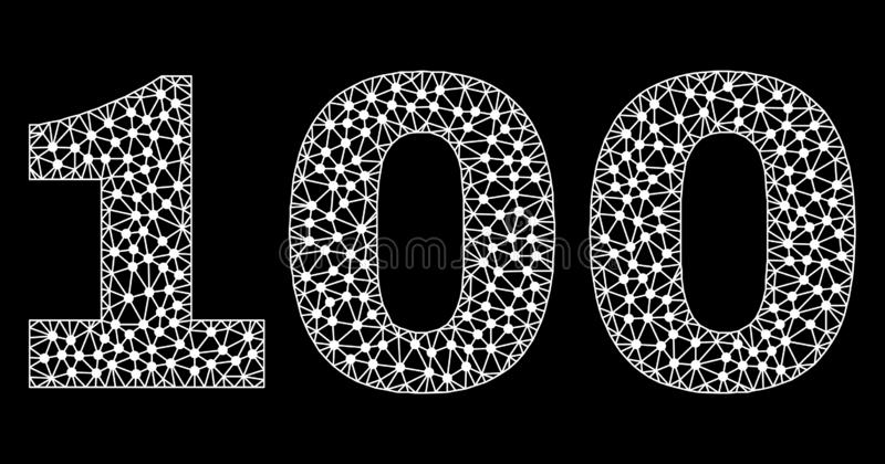 Text 100 i Polygonal Mesh Style stock illustrationer