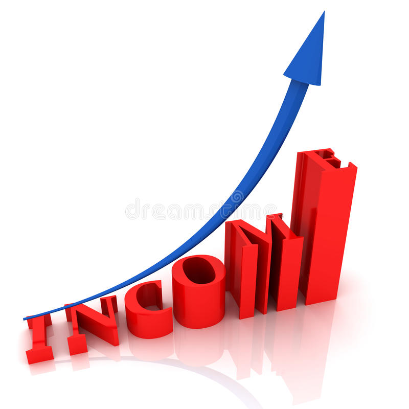 Text INCOME vector illustration
