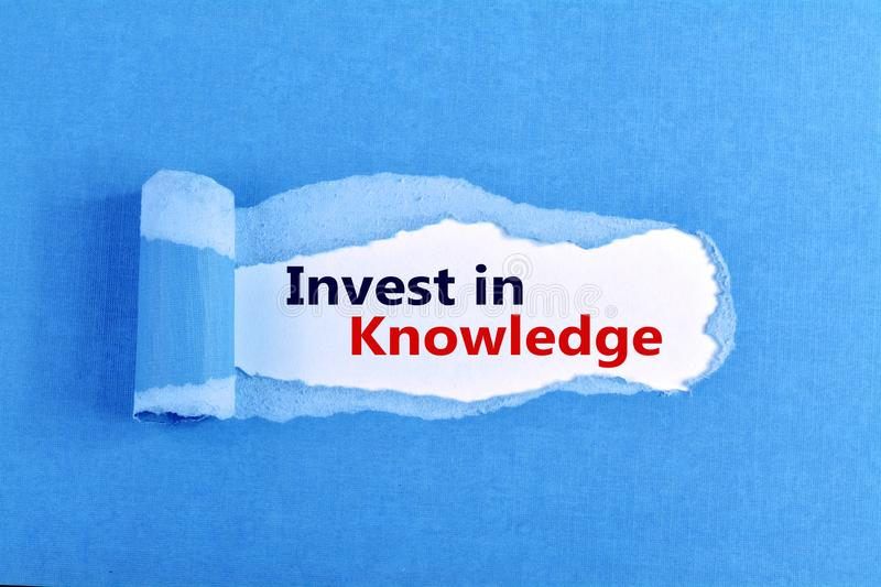 Invest in Knowledge royalty free stock photo