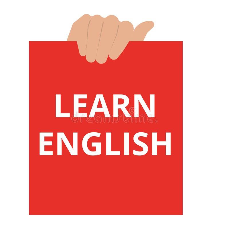 Text lernen Englisch stock abbildung