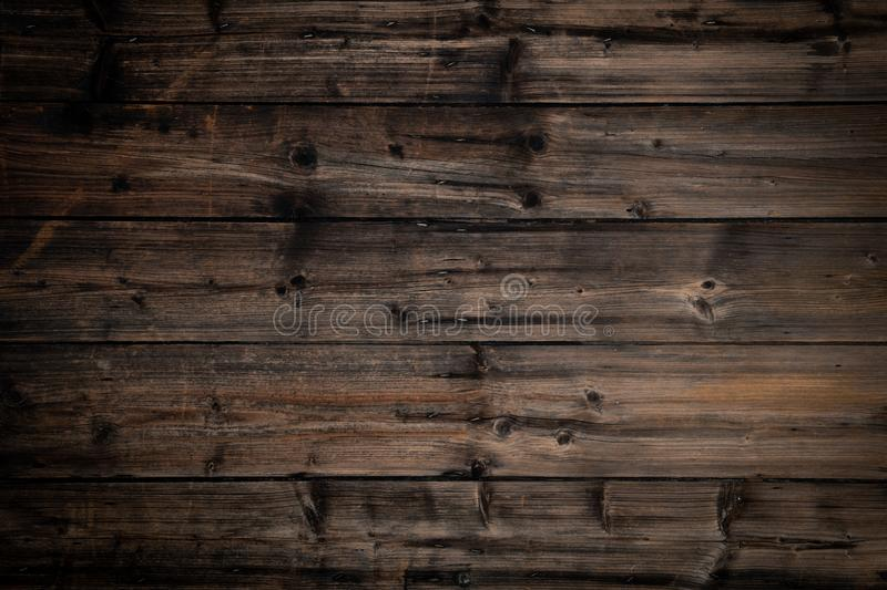 Text or logo empty copy space in vertical top view dark vintage wood.Nature,ecology,retro social media card background royalty free stock photography