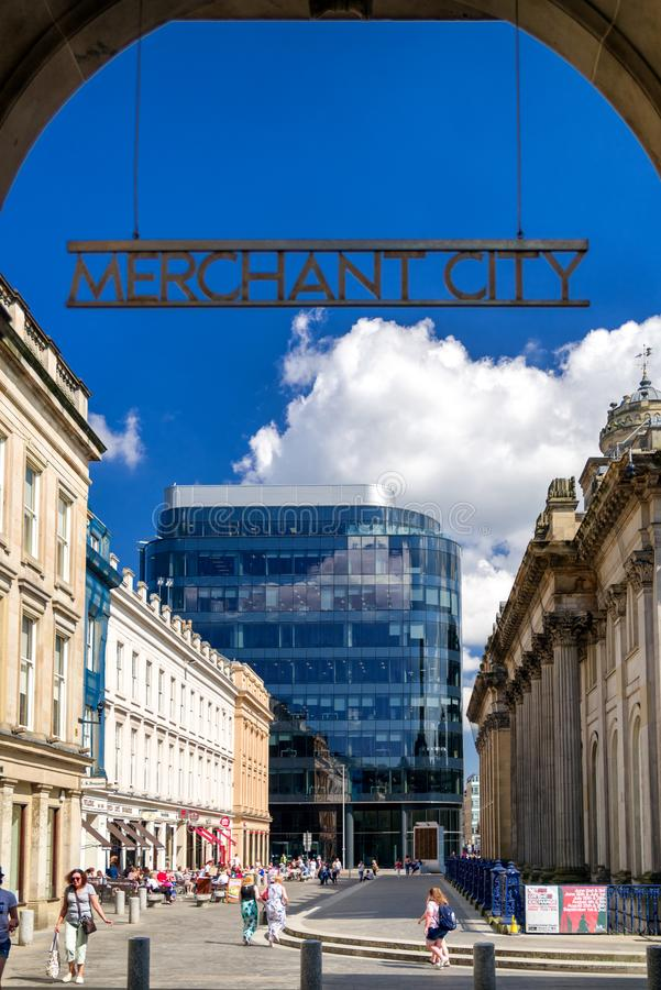 Text Merchant city, Glasgow - Scotland stock photography