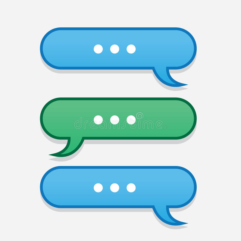Text Message Bubbles Back and Forth. Text messages bubbles going back and forth vector illustration